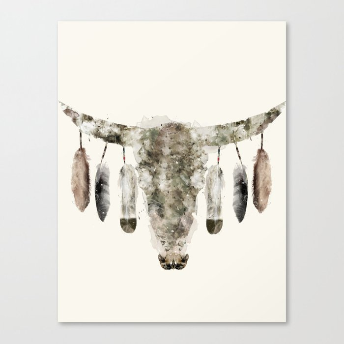 Cow Skull Canvas Print