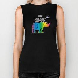 Save the Chubby Unicorn - Rainbow Rhino V6S2 Biker Tank