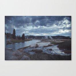 Hot Springs, Yellowstone Canvas Print