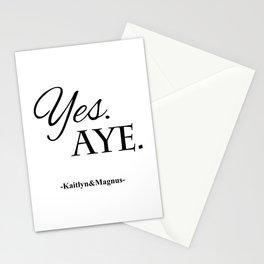 Yes. Aye. Stationery Cards