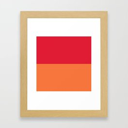 Raspberry Peach Orange Framed Art Print
