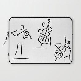 violinist cellist string player contrabass Laptop Sleeve