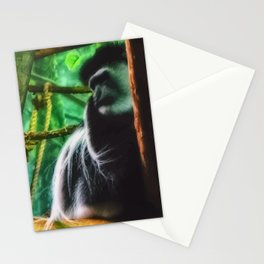 angry monkey Stationery Cards