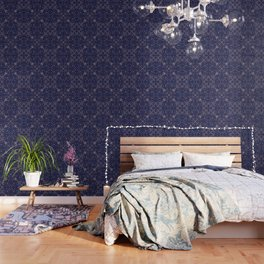 Tile blue and blush 2 Wallpaper