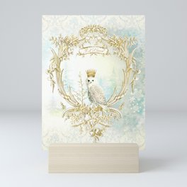 Owl Let it Snow Mini Art Print