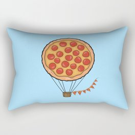 Pizza Hot Air Balloon Rectangular Pillow