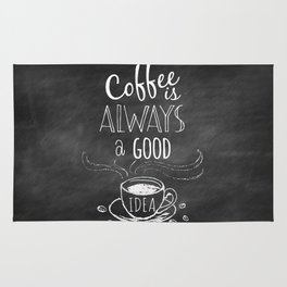 Coffee is always a good reason! Rug