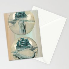 The Battle - Captain Ahab and Moby Dick Stationery Cards