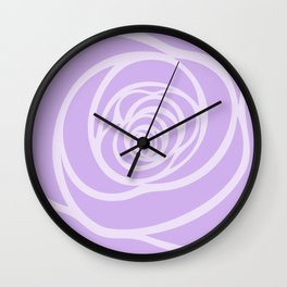 Rose Blossoming in Lavender Wall Clock