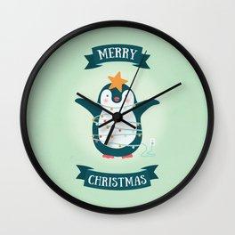 Christmas tree Penguin Wall Clock