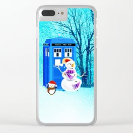 Tardis of Christmas Clear iPhone Case