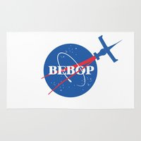 nasa Area & Throw Rugs featuring Bebop Nasa by AngoldArts