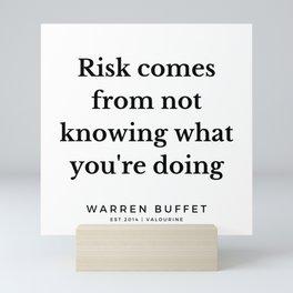 7   | Warren Buffett Quotes | 190823 Mini Art Print