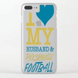 I Love My Husband&Jacksonville Football.. Clear iPhone Case