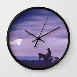 Southwestern Cowboy on Horse Wall Clock