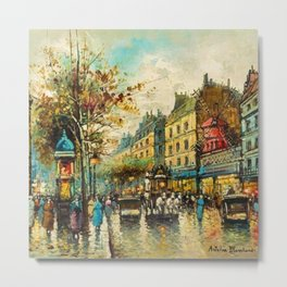 Le Moulin Cabaret Club a Montmartre, Paris by Antoine Blanchard Metal Print