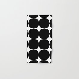 Retro '50s Shapes in Black and White Hand & Bath Towel