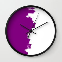 Purple balance Wall Clock