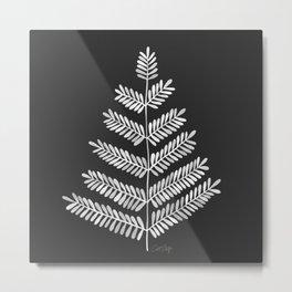 White Leaflets Metal Print