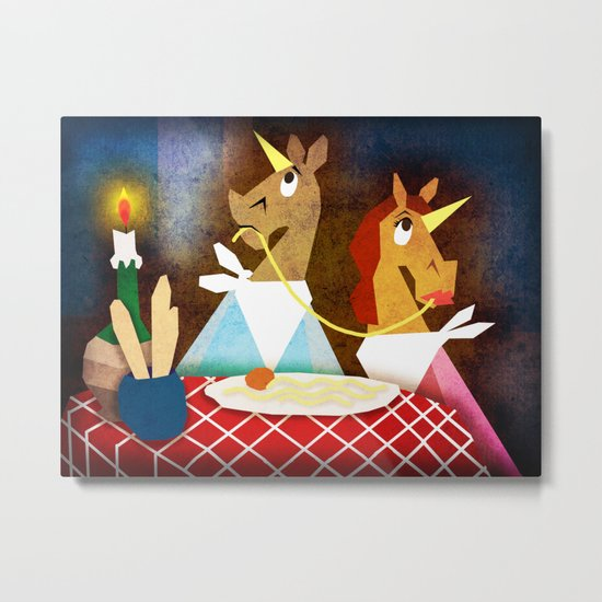 Bella Notte Unicorn Metal Print