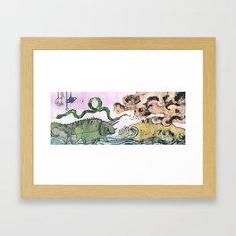 The Buò planet Framed Art Print