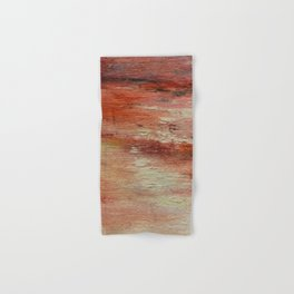 Red Monet's Theme of Waterlilies Hand & Bath Towel
