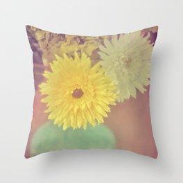 Grandma's House / Vintage Flowers Throw Pillow