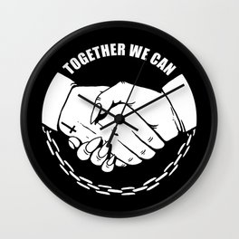 Together We Can Wall Clock