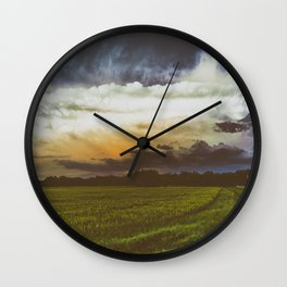 BURST AND BLOOM Wall Clock