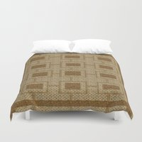 rug Duvet Covers featuring Vintage Rug  by DesignsByMarly