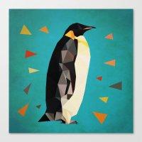penguin Canvas Prints featuring penguin by gazonula
