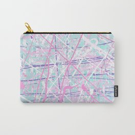 Flight of Color - pink turquoise Carry-All Pouch