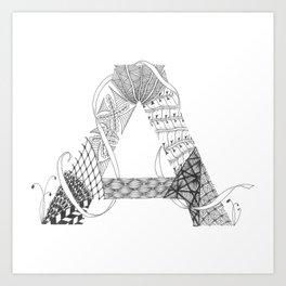 """Zenletter """"A"""" Art Print"""
