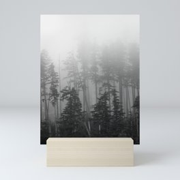 Foggy Forest Chinook Washington Grey Photography Print Misty Northwest Mini Art Print