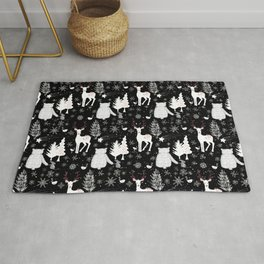 Merry Christmas - Simple X-mas Winter Forest Animals - Mix and Match with Simplicity of Life Rug