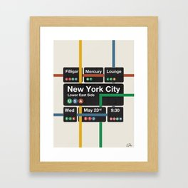 Filligar live in New York Framed Art Print