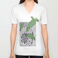 turtles V-neck T-shirts featuring Turtles by Kandus Johnson