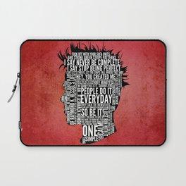 Typography Tyler Durden Uncensored Laptop Sleeve