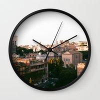 italy Wall Clocks featuring italy by paulina