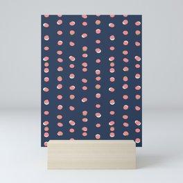 Trendy Uneven Dots Navy   Children's Pattern Mini Art Print