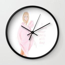 Pink Coat Wall Clock