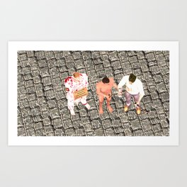 SquaRed: Three of Us Art Print