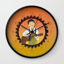 Ukulele musician Wall Clock