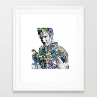 daryl Framed Art Prints featuring Daryl Dixon by NKlein Design