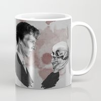 hamlet Mugs featuring Hamlet  by Cécile Pellerin