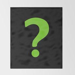 Enigma - green question mark Throw Blanket