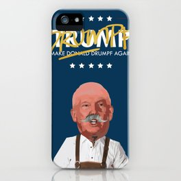 A MAN, HIS GOLD SHARPIE AND HIS LEDERHOSEN. iPhone Case