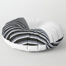 Abstract Architecture Curves Floor Pillow