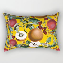 Vintage Fruit Pattern V Rectangular Pillow