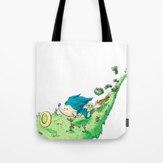 Starring Sonic and Miles 'Tails' Prower (Alt.) Tote Bag